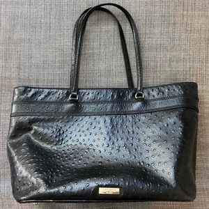 Kate Spade Ostrich Tote w/ Bow